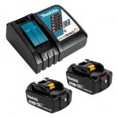 Makita 199179-3 18V Li-Ion Cordless Battery Charger DC18RC & 5.0Ah Batteres
