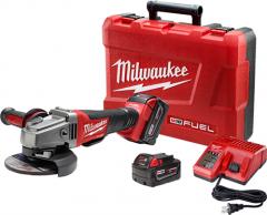 "Milwaukee M18CAG125XPD-502C 18V 5.0Ah Li-Ion Cordless Fuel 125mm (5"") Angle Grinder Combo Kit"