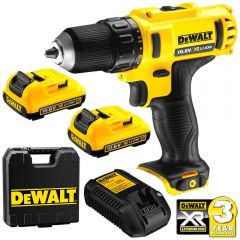 DeWalt DCD710D2-XE 10.8V 2.0Ah XR Li-Ion Cordless Driver Drill Combo Kit
