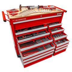 Sidchrome SCMT10166 382pce Metric & AF 13 Drawer Wide Body Roller Cabinet Tool Chest Kit