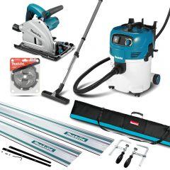 Makita MAK-COMBO-026 2pce Vacuum Cleaner Dust Extractor & Plunge Saw Kit