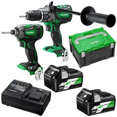 HiKOKI KC36DBDL(HRZ) 36V 5.0Ah/2.5Ah Li-Ion Cordless Brushless 2pce Combo Kit