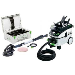 "Festool LHS 225 EQ AC-Set 550W 215mm (8-1/2"") 1.6m Long Reach Planex Sander Set with Dust Extractor"