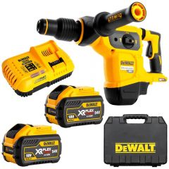 DeWalt DCH481X2-XE 54V FlexVolt XR Li-Ion Cordless Brushless 3-Mode 5KG SDS Max Rotary Hammer Combo Kit