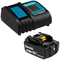 Makita 198399-6 18V Li-Ion DC18SD Charger and BL1830B-L 3.0Ah Battery with Gauge Combo