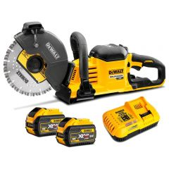 "DeWalt DCS690X2-XE 54V 9.0Ah FlexVolt XR Li-Ion Cordless Brushless 230mm (9"") Concrete Saw Combo Kit"