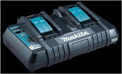 Makita B-90152 18V Li-Ion Cordless Battery Same Time Dual Port Charger DC18RC with 2 x 4.0Ah Batteries BL1840