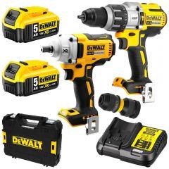 DeWalt DCK2094P2-XE 18V 5.0Ah XR Li-Ion Cordless Brushless 2pce Combo Kit