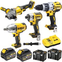 DeWalt DCK399P2-XE 18V 5.0Ah XR Li-Ion Cordless 4pce Combo Kit Including Brushless