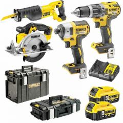 DeWalt DCK451P2-XE 18V 5.0Ah XR Li-Ion Cordless 4pce Combo Kit Including Brushless