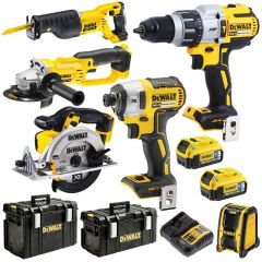 DeWalt DCK696P2B-XE 18V 5.0Ah XRP Li-Ion Cordless 6pce Combo Kit Including Brushless
