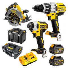 DeWalt DCZ357T2T-XE 18V-54V 6.0Ah FlexVolt XR Li-Ion Cordless Brushless 3Pce Combo Kit