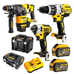 DeWalt DCZ333X2T-XE 18V-54V 9.0Ah FlexVolt XR Li-Ion Cordless Brushless 3Pce Combo Kit