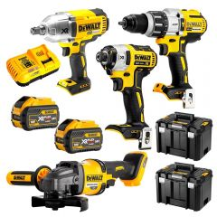 DeWalt DCZ441X2T-XE 18V-54V 9.0Ah FlexVolt XR Li-Ion Cordless Brushless 4Pce Combo Kit