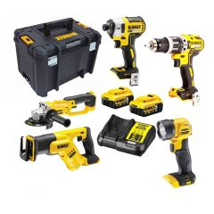 DeWalt DCZ594P2-XE 18V XR LI-ION 5PC COMBO KIT - 5.0AH