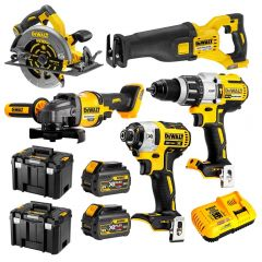 DeWalt DCZ596T2T-XE 18V-54V 6.0Ah FlexVolt XR Li-Ion Cordless Brushless 5Pce Combo Kit