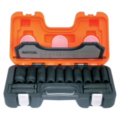 "14 Piece 1/2"" Drive Long Impact Socket Set"