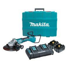 """Makita DGA900PTX1 36V (18V x 2) Li-Ion Cordless Brushless 230mm (9"""") Angle Grinder Combo Kit"""