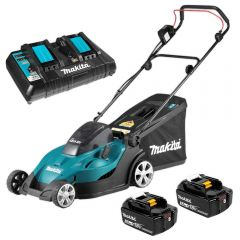 Makita DLM431PT2 36V (18V X 2) 5.0Ah Li-ion Cordless Lawn Mower Combo Kit