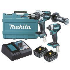 Makita DLX2176T 18V 5.0Ah Li-Ion Brushless Cordless 2pce Combo Kit