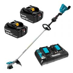 Makita DUR364LPT2 36V (18V x 2) 5.0Ah Li-Ion Cordless Brushless Line Trimmer Combo Kit