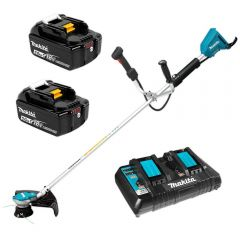 Makita DUR365UPT2 36V (18V x 2) Li-ion Cordless Brushless Straight Shaft Line Trimmer Combo Kit