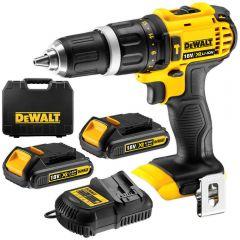DeWalt DCD785C2-XE 18V 1.5Ah XR Li-Ion Cordless Hammer Drill Driver Combo Kit