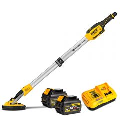 "DeWalt DCE800T2-XE 18V 6.0Ah XR Li-ion Cordless Brushless 225mm (8-3/4"") Drywall Sander Combo Kit"