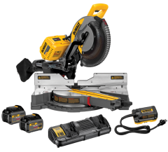 DeWalt DHS780T2A-XE 54V 6.0Ah FlexVolt XR Li-Ion Cordless Brushless 305mm Sliding Compound Mitre Saw Combo Kit