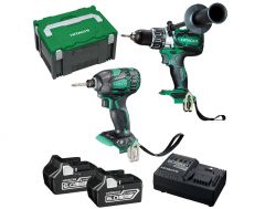 Hitachi KC18DBDL(HB) 18V 6.0Ah Li-Ion Brushless Cordless 2pce Combo Kit
