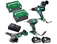 Hitachi KC18DDBL(HB) 18V 6.0Ah Li-ion Brushless Cordless 3pce Combo Kit
