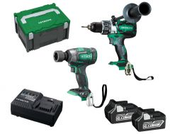 Hitachi KC18DPL(HB) 18V 6.0Ah Li-ion Brushless Cordless 2pce Combo Kit