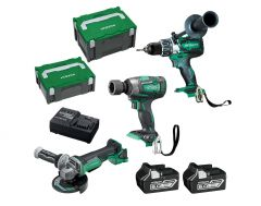 Hitachi KC18DRBL(HB) 18V 6.0Ah Li-ion Brushless Cordless 3pce Combo Kit