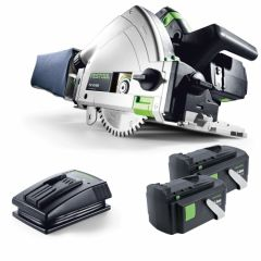 "Festool 575018 TSC 55 REB-Plus 5.2Ah Li 18V x 2 5.2Ah 160mm (6-1/4"") Cordless Plunge Cut Saw Set"