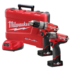 Milwaukee M12 FUEL Brushless 2pce 12v Cordless Combo Kit