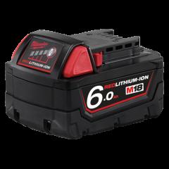 Milwaukee M18B6 18V 6.0Ah Li-ion Cordless RED LITHIUM Battery