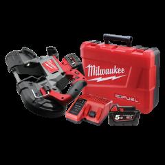 Milwaukee M18CBS125-502C 18V 5.0Ah Fuel Li-Ion Cordless Deep Cut Bandsaw Combo Kit