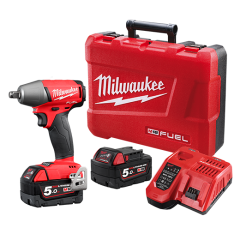 "Milwaukee M18FIWF12-502C18V Li-ion Cordless Fuel 1/2"" Impact Wrench Combo Kit"