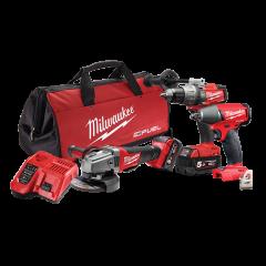 Milwaukee M18FPP3C-502B 18V 5.0Ah Li-Ion Cordless Fuel NEXT GEN 3pce Combo Kit