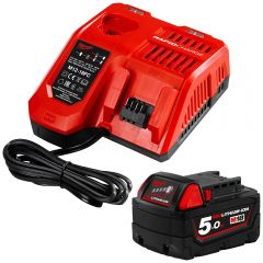 Milwaukee M18SP-501B 18V 5.0Ah Li-ion Cordless Battery and Charger Starter Pack