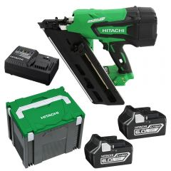 Hitachi NR1890DBCL(HX) 90mm 18V Li-Ion Cordless Brushless Framing Nailer Combo Kit