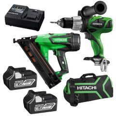 Hitachi PACK356 18V 6.0Ah Li-Ion Cordless Brushless 2pce Combo Kit