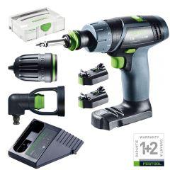 Festool TXS LI 2,6 Set 10.8V TXS Mini Cordless Drill/Driver Set 2,6Ah